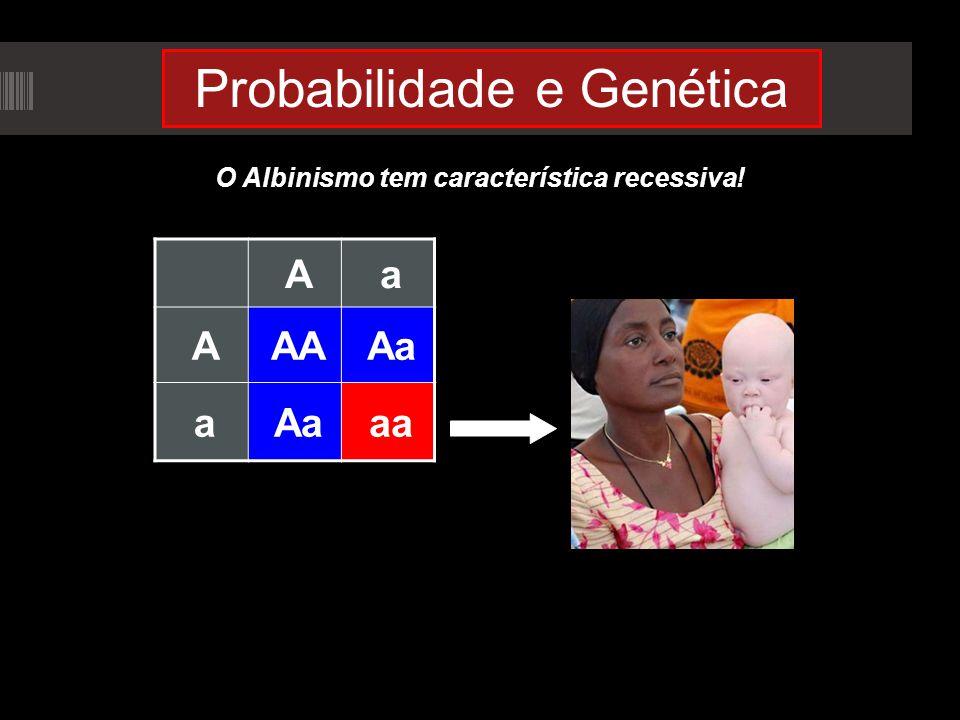 Probabilidade e Genética O Albinismo tem característica recessiva! Aa AAAAa a aa