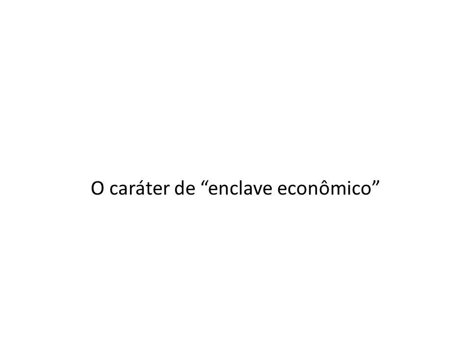 """O caráter de """"enclave econômico"""""""