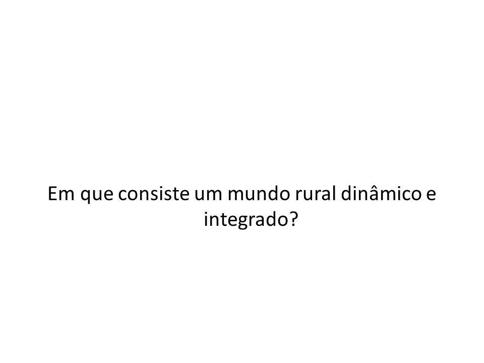 Em que consiste um mundo rural dinâmico e integrado?