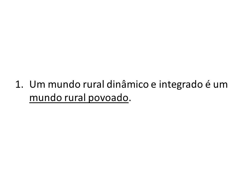 1.Um mundo rural dinâmico e integrado é um mundo rural povoado.