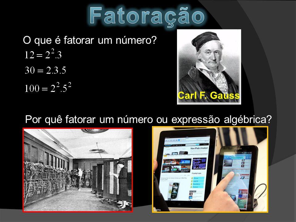O que é fatorar um número? Carl F. Gauss Por quê fatorar um número ou expressão algébrica?