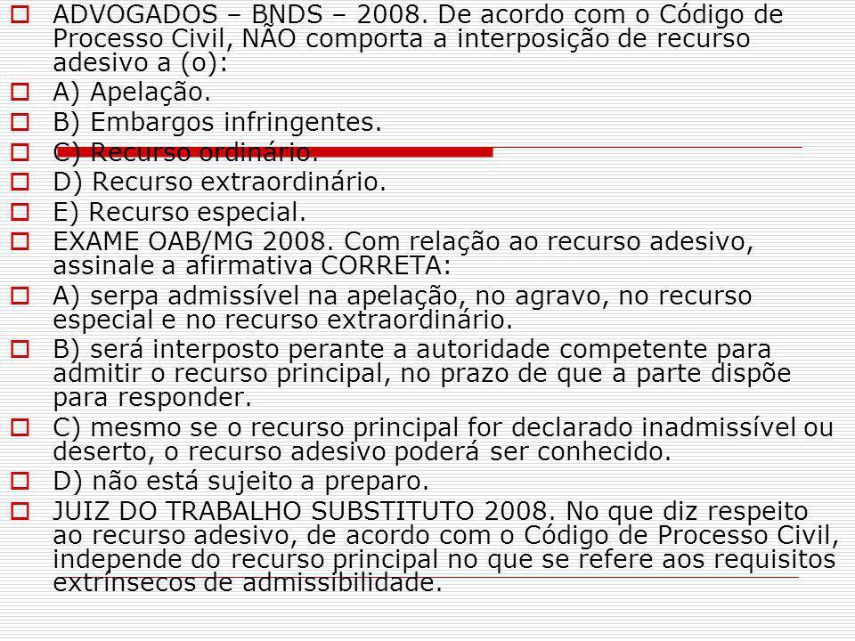  ADVOGADOS – BNDS – 2008.