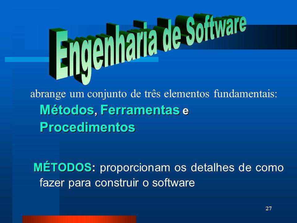 26 Mitos do software ( PROFISSIONAL) Mito: Mito: Enquanto não tiver o programa