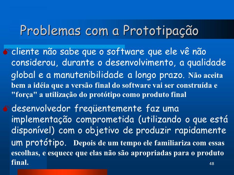 47 Atividades da Prototipação 5- REFINAMENTO DOS REQUISITOS: iteração 5- REFINAMENTO DOS REQUISITOS: cliente e desenvolvedor refinam os requisitos do