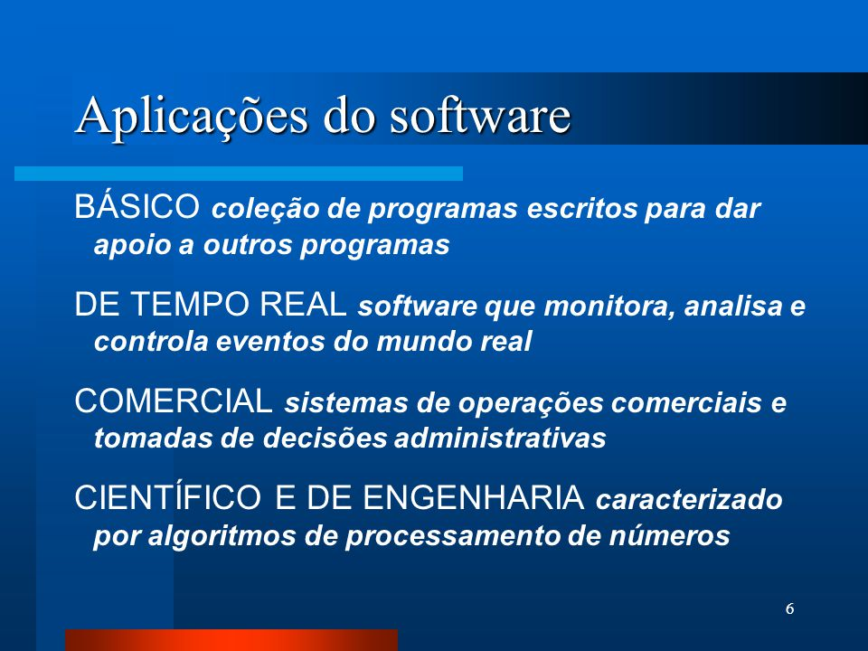 16 Causas dos problemas associados à crise de software 1- PRÓPRIO CARÁTER DO SOFTWARE O software é um elemento de sistema lógico e não físico.