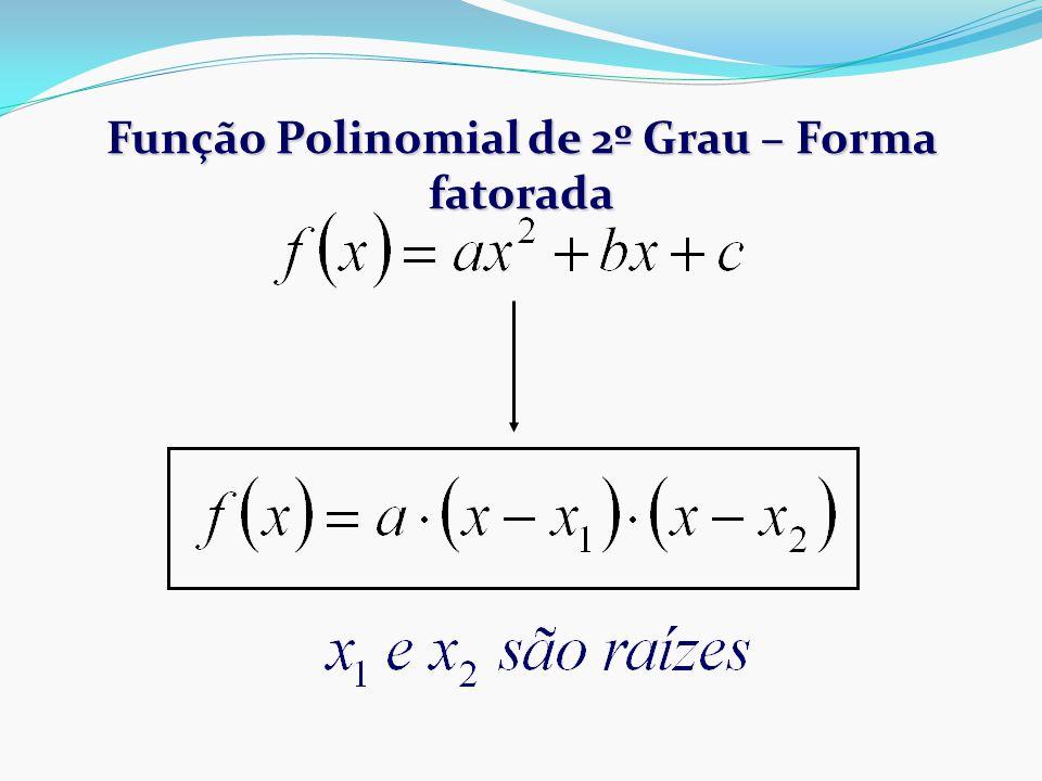 Função Polinomial de 2º Grau – Forma fatorada