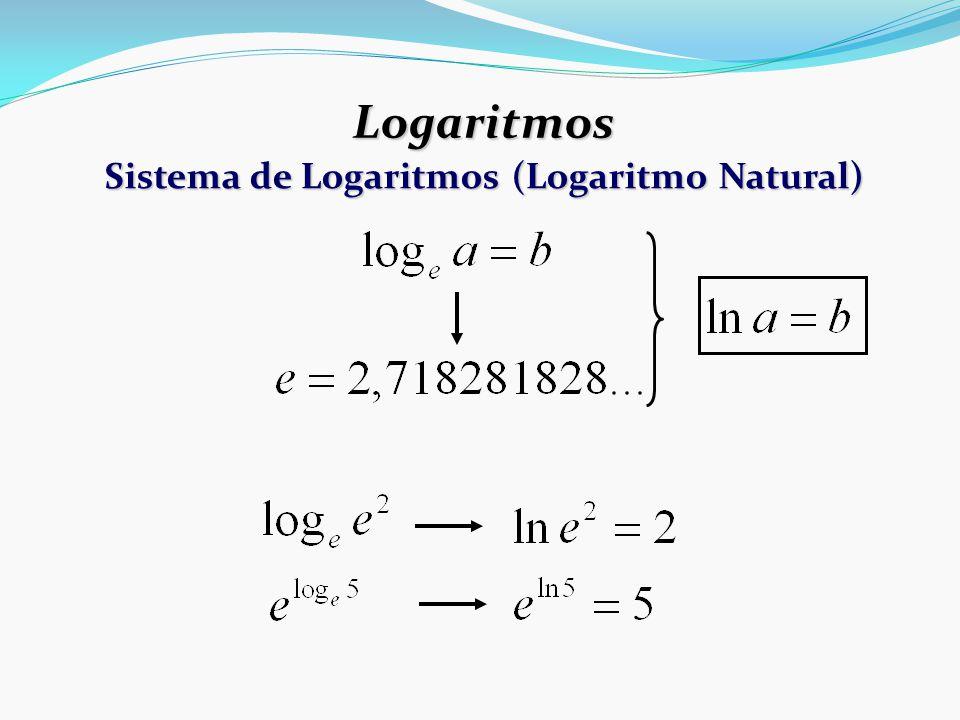 Logaritmos Sistema de Logaritmos (Logaritmo Natural)