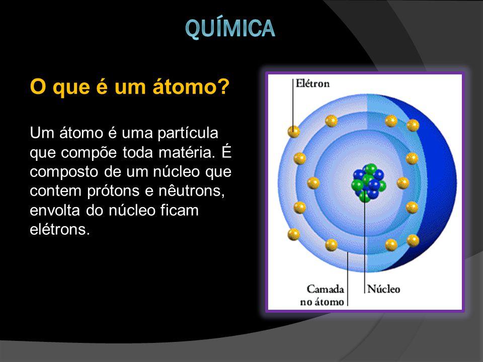 Um átomo é uma partícula que compõe toda matéria.