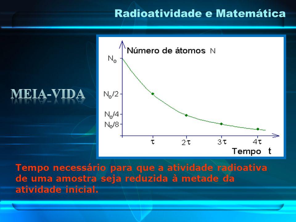 No caso do carbono-14 a meia-vida é de 5.730 anos, ou seja, este é o tempo necessário para uma determinada massa deste isótopo instável decair para a
