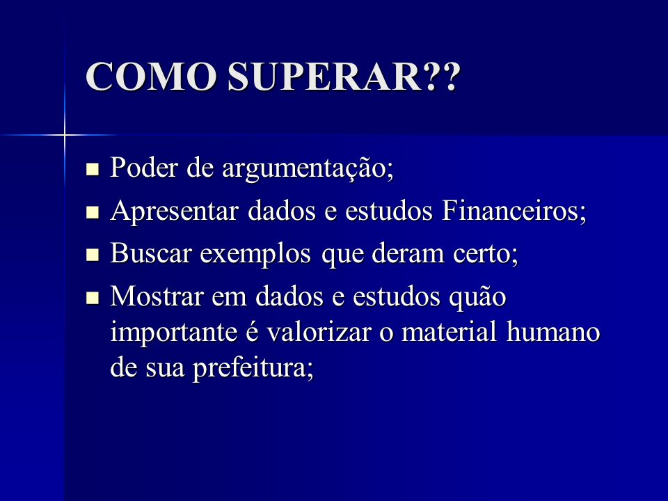 COMO SUPERAR?.