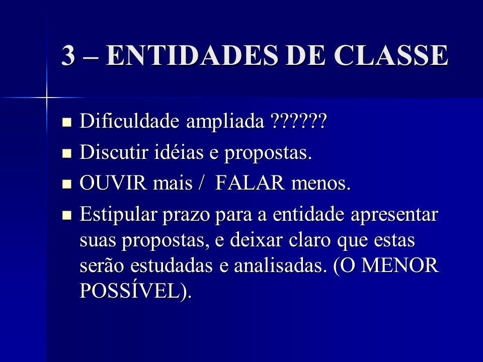 3 – ENTIDADES DE CLASSE Dificuldade ampliada ?????.
