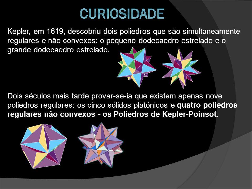 Kepler, em 1619, descobriu dois poliedros que são simultaneamente regulares e não convexos: o pequeno dodecaedro estrelado e o grande dodecaedro estre