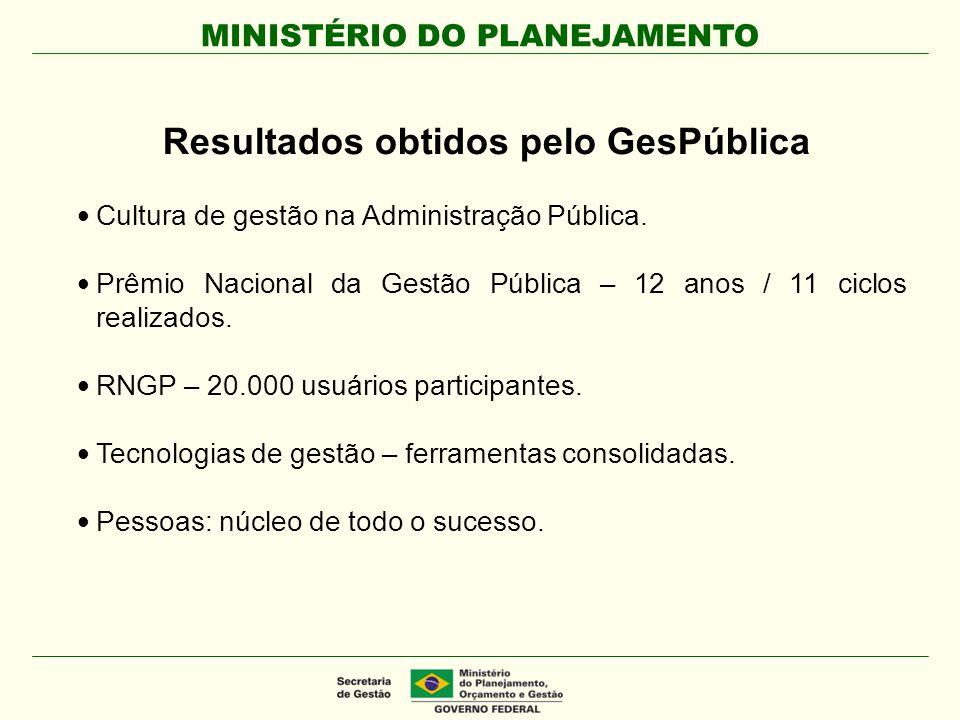 MINISTÉRIO DO PLANEJAMENTO Cidadãos/Usuários que demandam e utilizam os serviços ou produtos das organizações públicas.