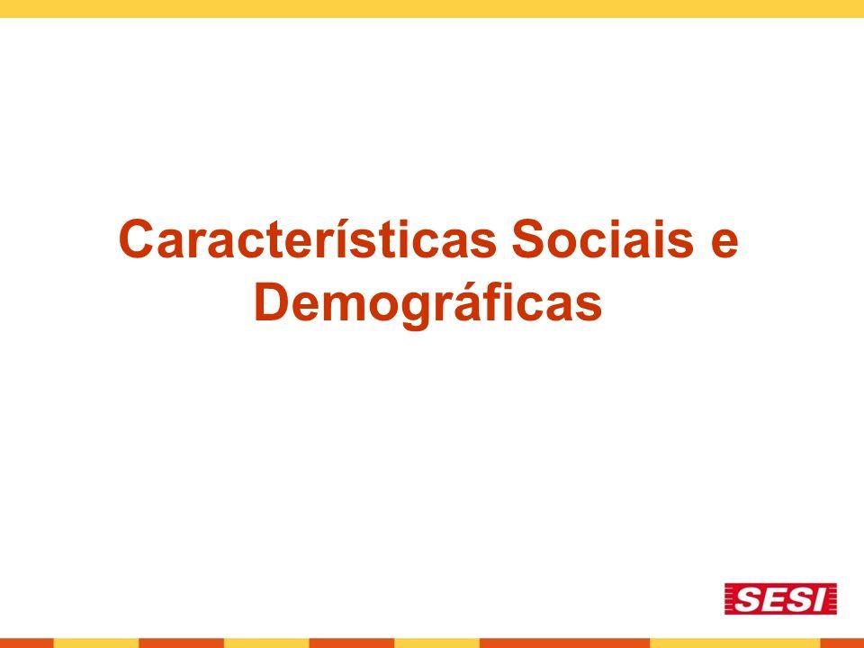 Características Sociais e Demográficas