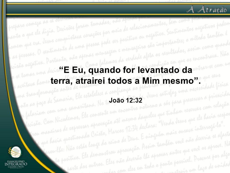 """""""E Eu, quando for levantado da terra, atrairei todos a Mim mesmo"""". João 12:32"""