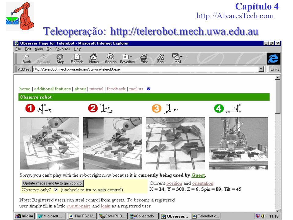 Teleoperahttp://telerobot.mech.uwa.edu.au Teleoperação: http://telerobot.mech.uwa.edu.au Capítulo 4 http://AlvaresTech.com