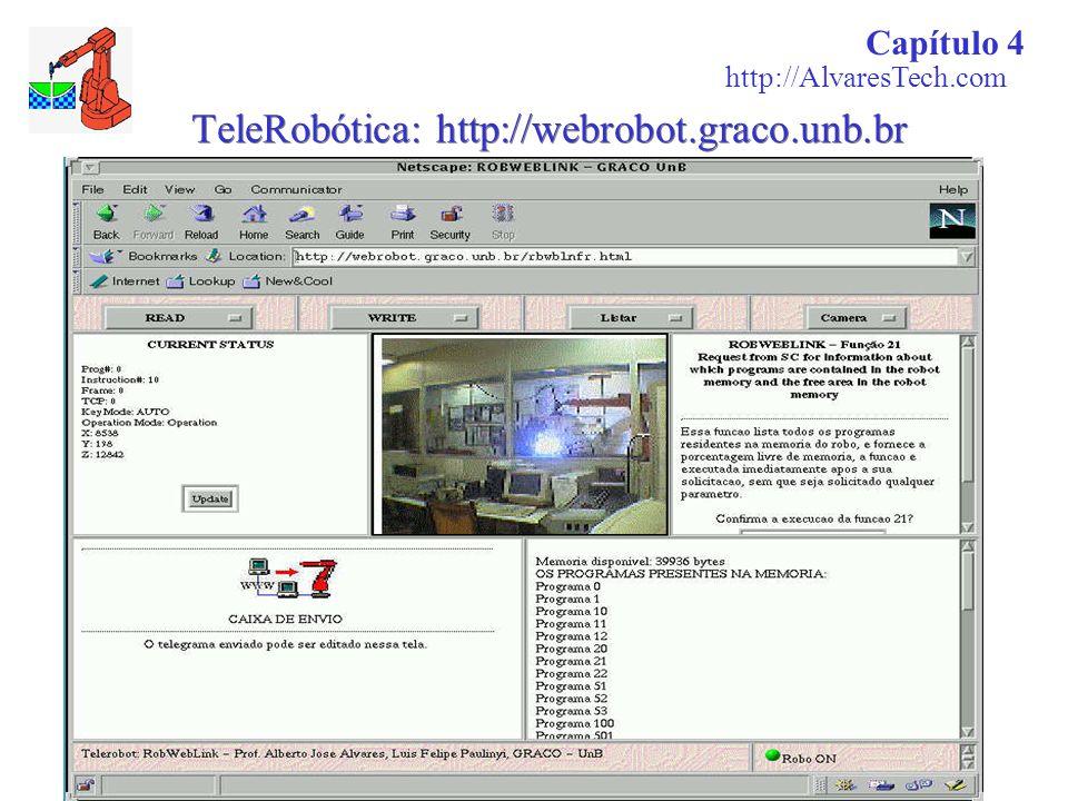 TeleRobótica: http://webrobot.graco.unb.br Capítulo 4 http://AlvaresTech.com