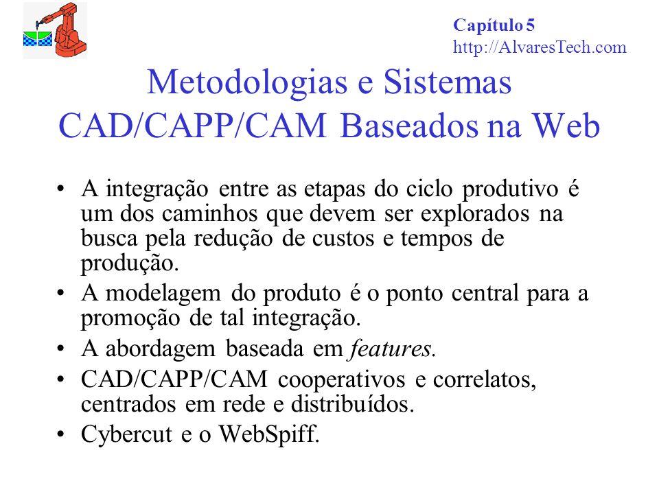 Capítulo 5 http://AlvaresTech.com Metodologias e Sistemas CAD/CAPP/CAM Baseados na Web A integração entre as etapas do ciclo produtivo é um dos caminh