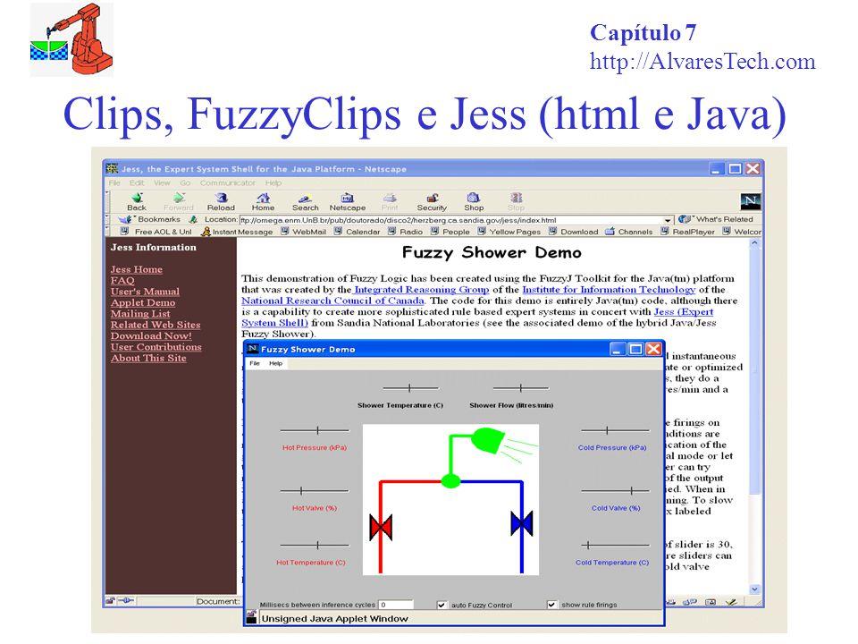 Capítulo 7 http://AlvaresTech.com Clips, FuzzyClips e Jess (html e Java)