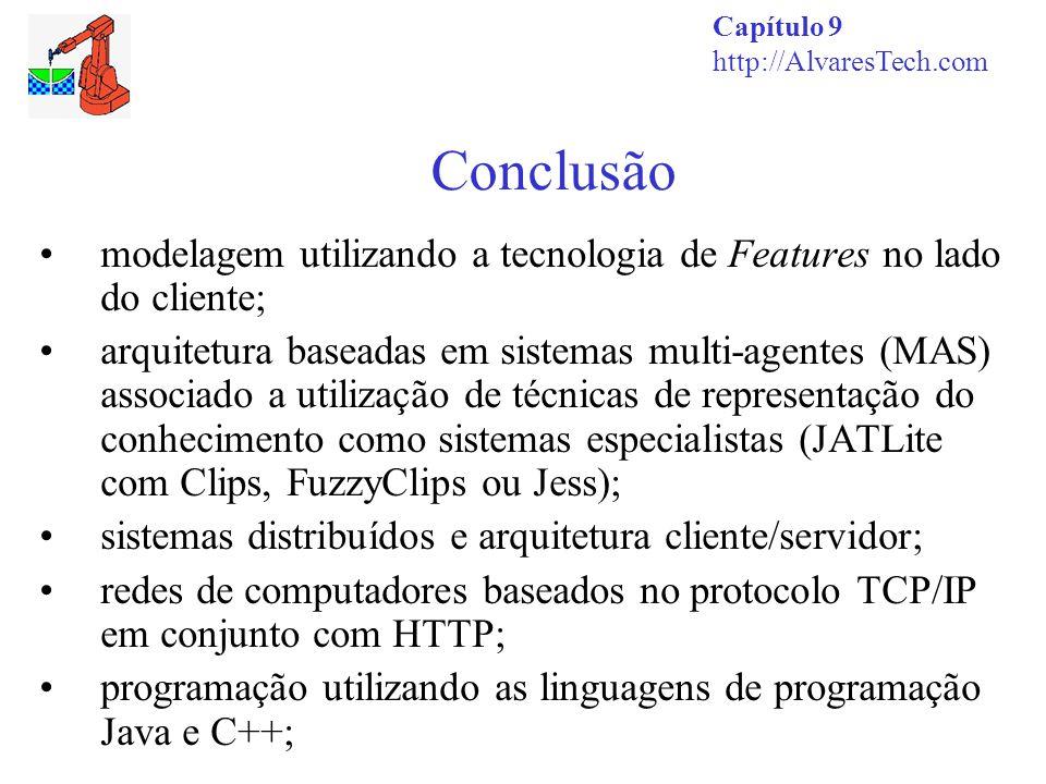 Conclusão Capítulo 9 http://AlvaresTech.com modelagem utilizando a tecnologia de Features no lado do cliente; arquitetura baseadas em sistemas multi-a