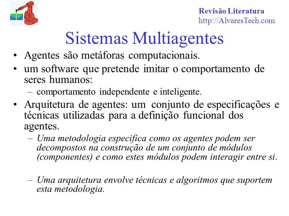 Revisão Literatura http://AlvaresTech.com Sistemas Multiagentes Agentes são metáforas computacionais.