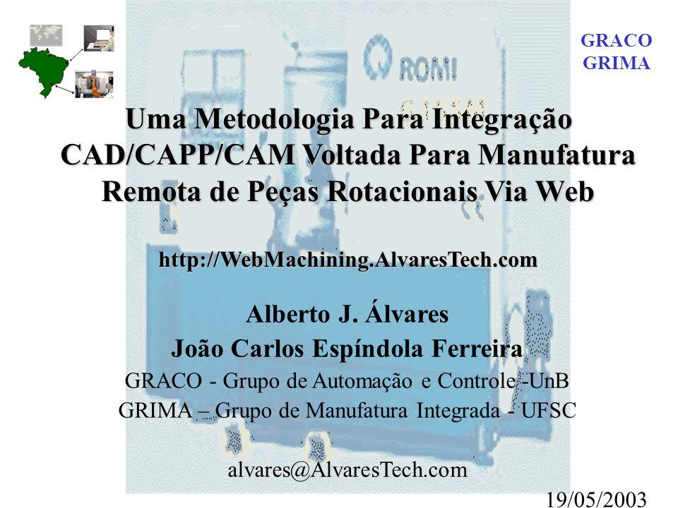 Uma Metodologia Para Integração CAD/CAPP/CAM Voltada Para Manufatura Remota de Peças Rotacionais Via Web http://WebMachining.AlvaresTech.com Alberto J