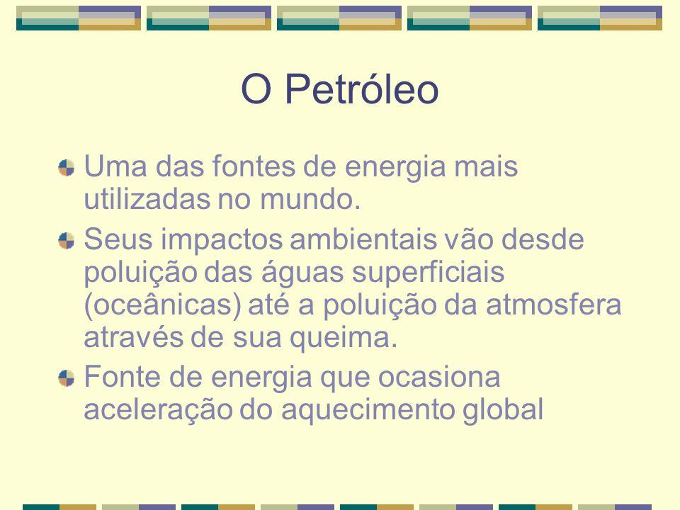 Rota de poluição provocada pelos navios petroleiros