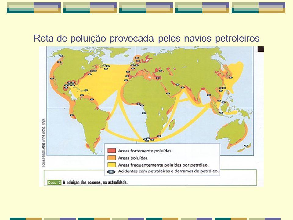 Refinaria Petrolífera poluindo a atmosfera