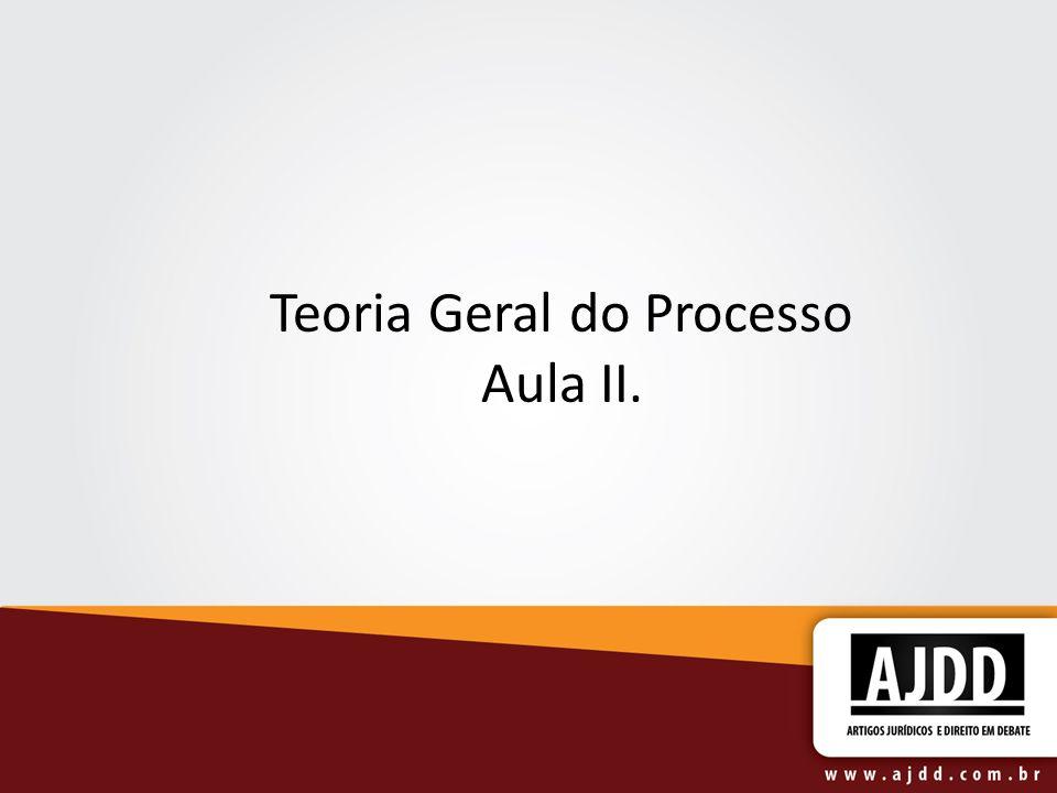 Teoria Geral do Processo Aula II.