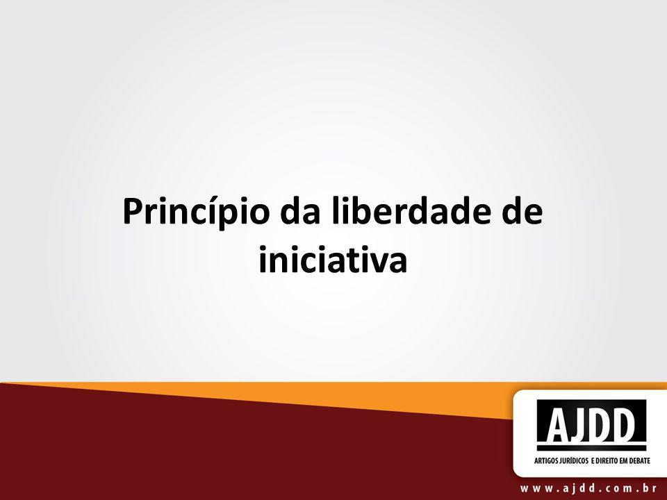 Princípio da liberdade de iniciativa