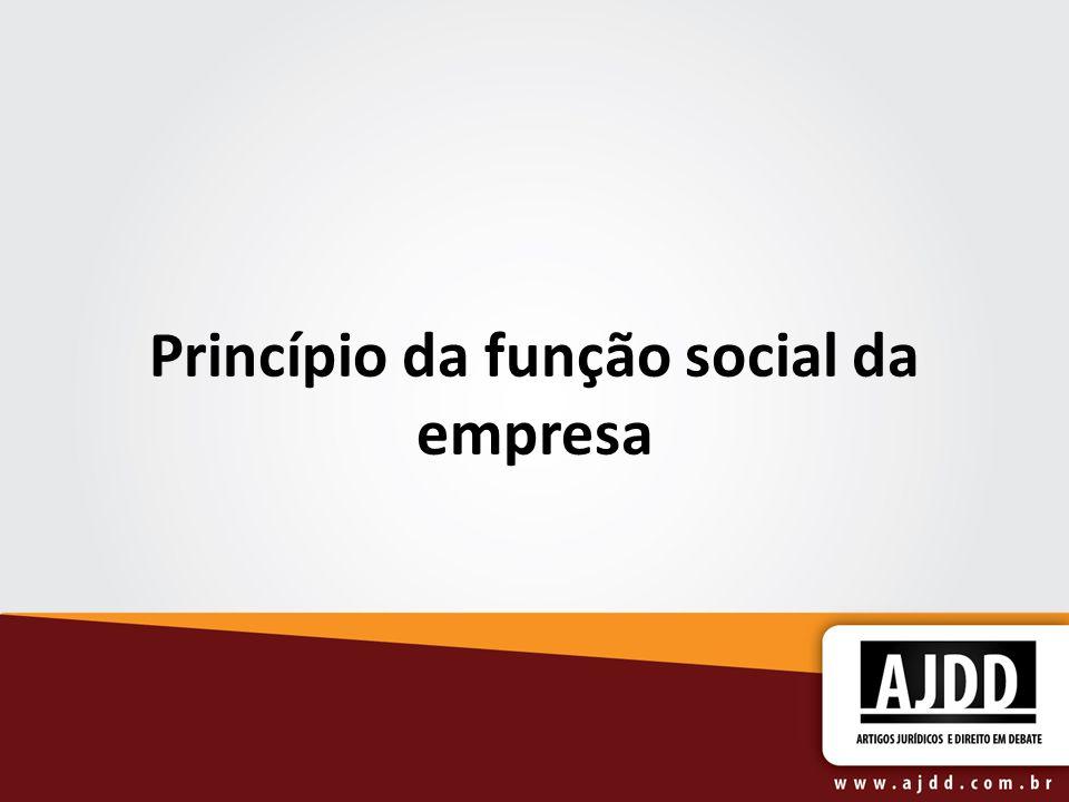 Princípio da função social da empresa