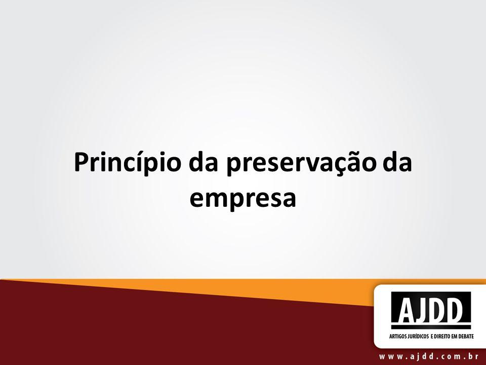 Princípio da preservação da empresa