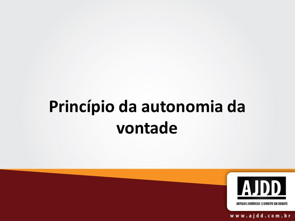 Princípio da autonomia da vontade