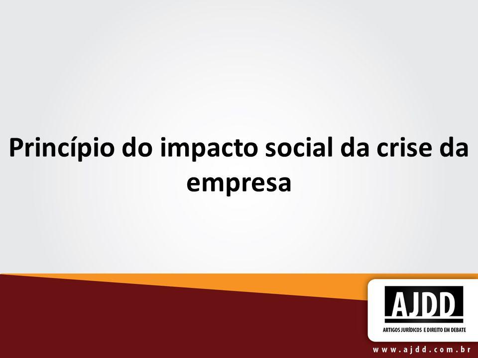 Princípio do impacto social da crise da empresa