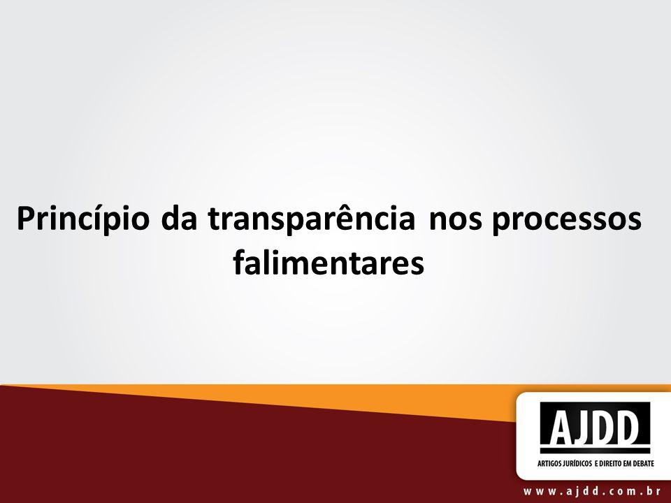 Princípio da transparência nos processos falimentares