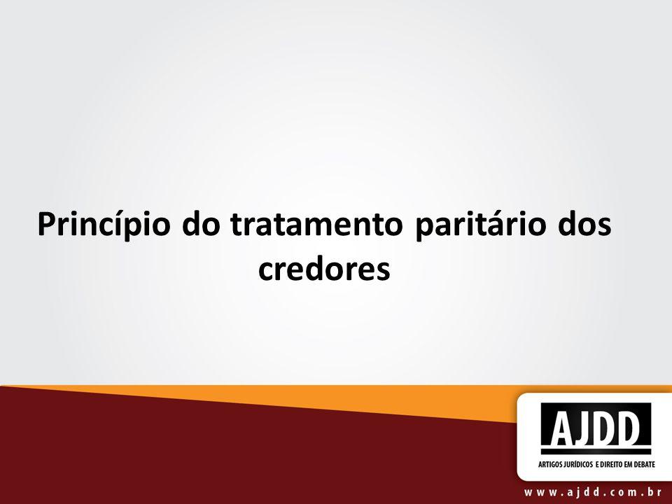Princípio do tratamento paritário dos credores