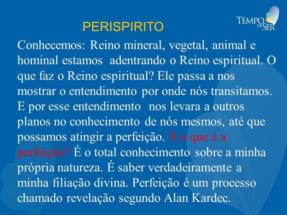 PERISPIRITO Conhecemos: Reino mineral, vegetal, animal e hominal estamos adentrando o Reino espiritual.