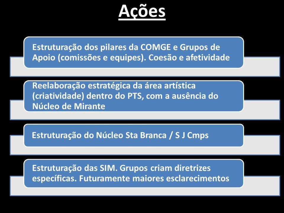 Estabelecer vínculo mais amplo com Coordenador da COMGE Inserir Ricardo (Londrina) e Fran (Pdte) na equipe de Apoio Tecnológico Apostila Inteligência Mediúnica (embrião de uma coleção sobre o assunto) Organização continuada do PTS por dois anos.