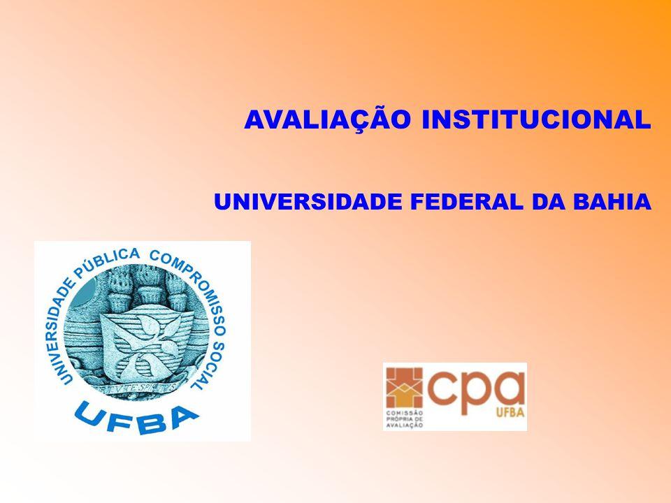 AVALIAÇÃO INSTITUCIONAL UNIVERSIDADE FEDERAL DA BAHIA