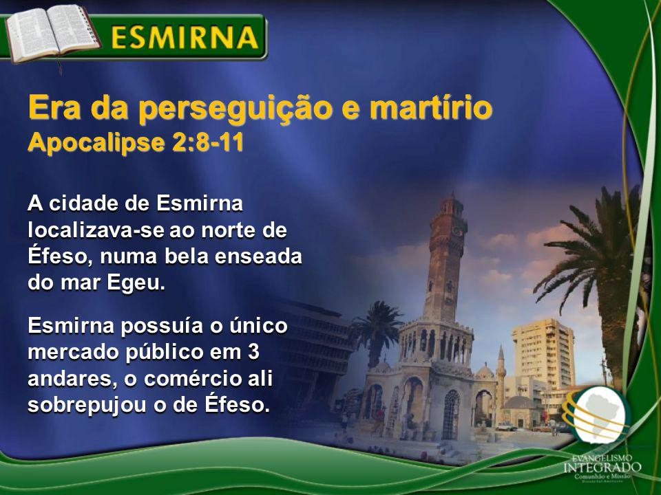 A cidade de Esmirna localizava-se ao norte de Éfeso, numa bela enseada do mar Egeu. Esmirna possuía o único mercado público em 3 andares, o comércio a