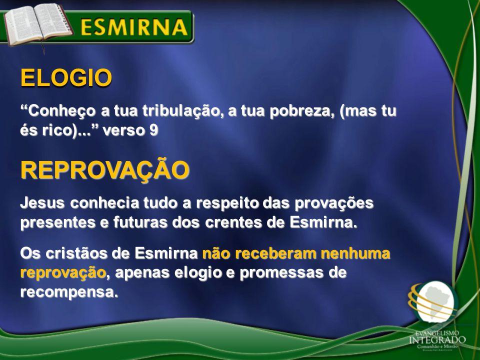 """""""Conheço a tua tribulação, a tua pobreza, (mas tu és rico)..."""" verso 9 ELOGIO Jesus conhecia tudo a respeito das provações presentes e futuras dos cre"""