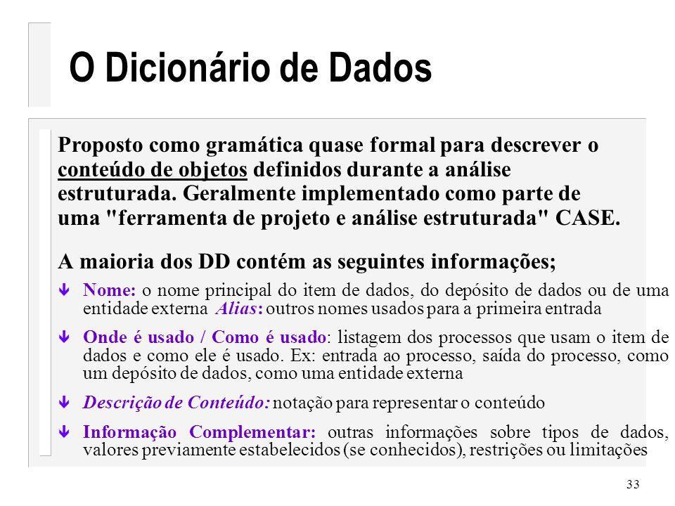 34 Exemplo DD Coleção de itens de dados individuais Item(s) de dados