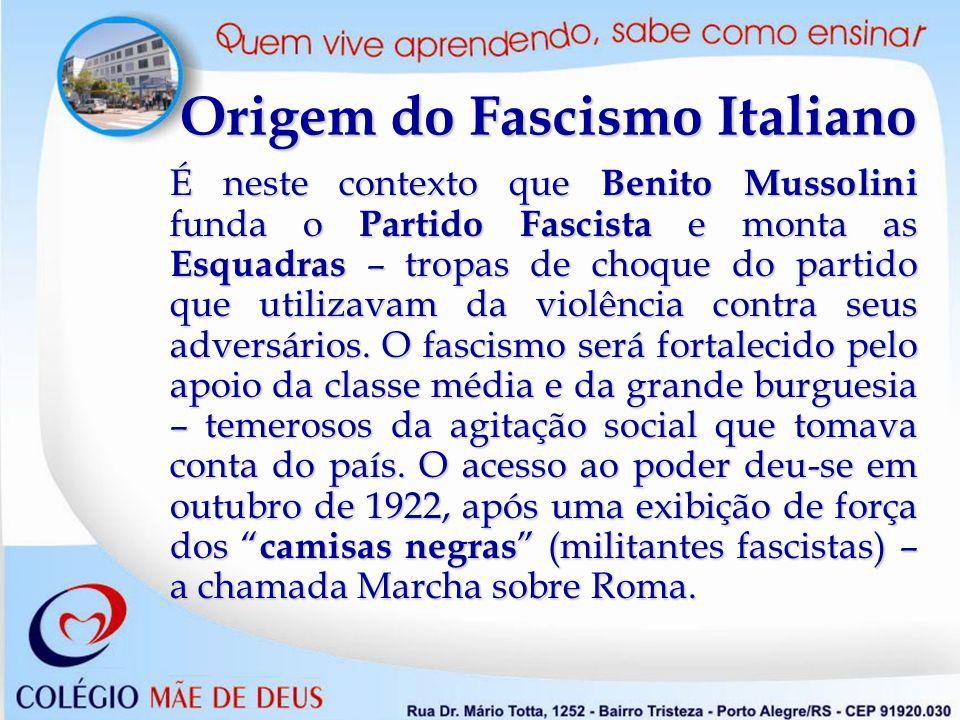 Realizações do Fascismo Italiano assinatura do Tratado de Latrão (1929 ) – acordo entre o Estado e a Igreja Católica que cria o Vaticano – território sob autoridade do papado, e torna obrigatório o ensino da religião católica nas escolas públicas.
