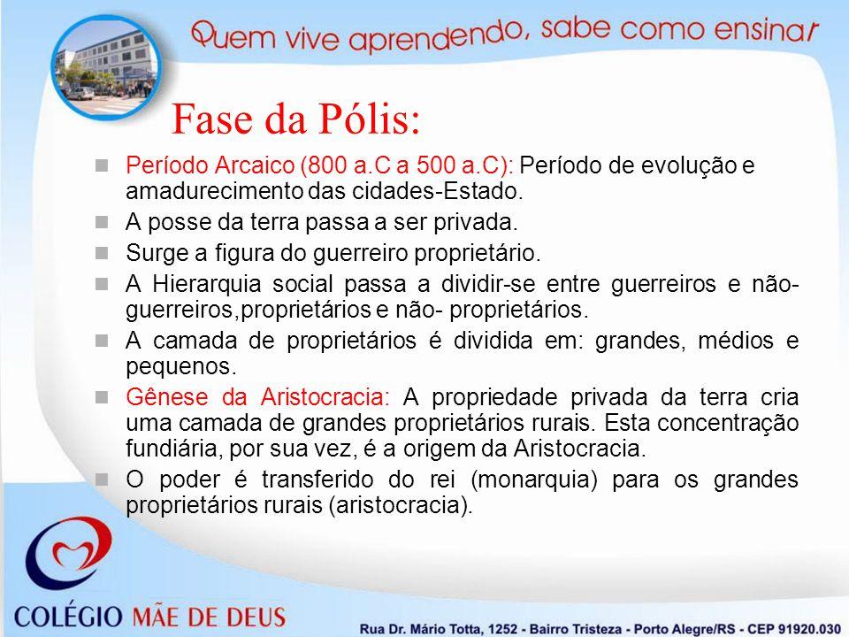 Fase da Pólis: Pequenos proprietários: O aumento populacional e a baixa produtividade gera o empobrecimento dos pequenos proprietários.
