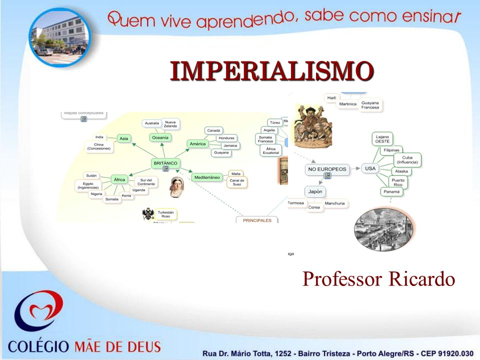 Conceito de Imperialismo Prática política das potências capitalistas ocidentais, em fins do século XIX, que consiste na dominação territorial, econômica e ideológica de países do Terceiro Mundo.