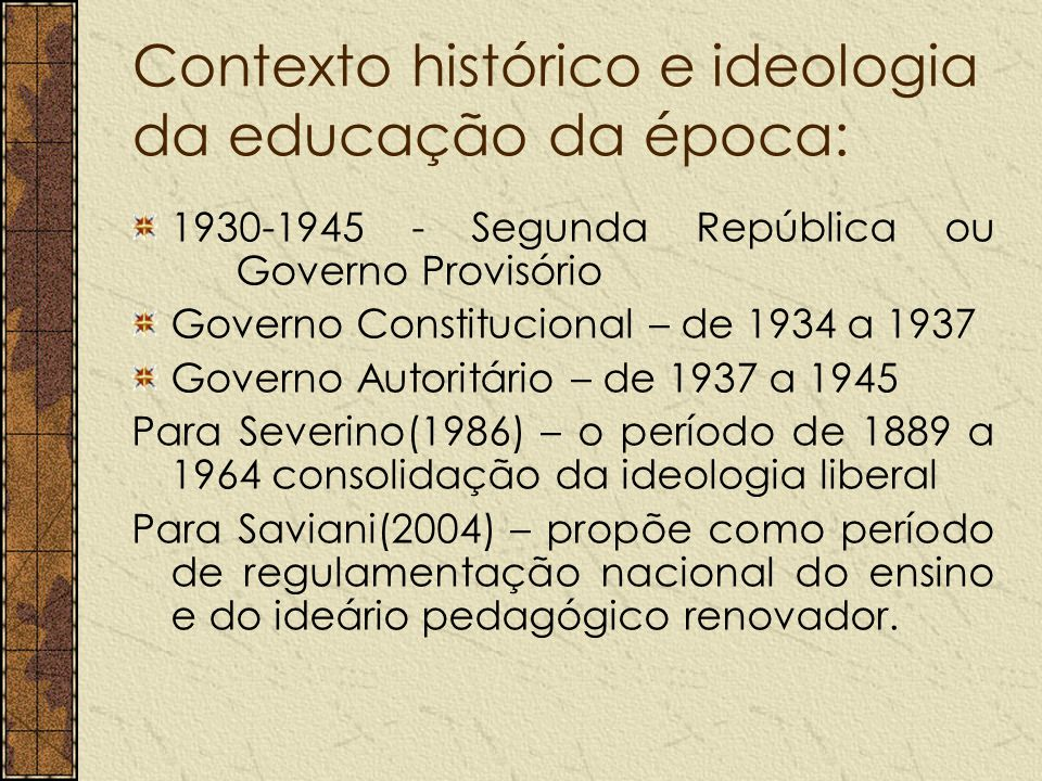 A democracia um programa de longos deveres nova política educacional, com sentido unitário e de base científicas exige longo tempo para que se modifiquem pontos de vista e as atitudes em face aos problemas educacionais.