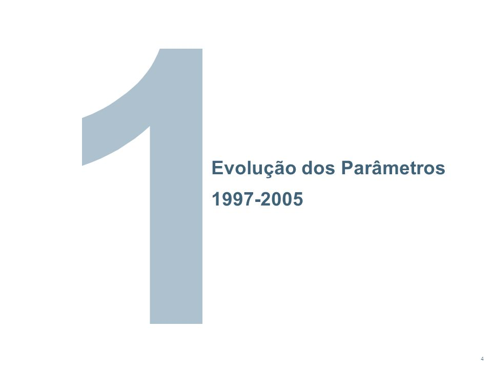 4 Evolução dos Parâmetros 1997-2005