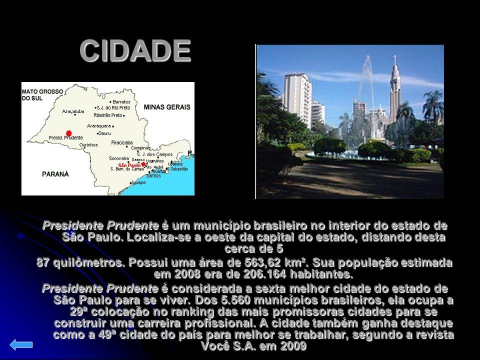 CIDADE Presidente Prudente é um município brasileiro no interior do estado de São Paulo. Localiza-se a oeste da capital do estado, distando desta cerc