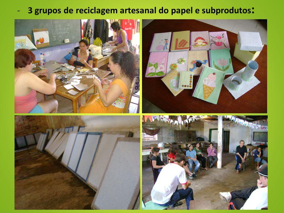 -3 grupos de reciclagem artesanal do papel e subprodutos :