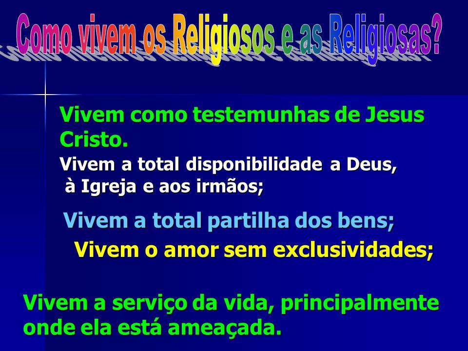 No dia em que assumem esta vocação, os Religiosos seguindo Jesus Cristo, comprometem-se a viver os três votos, ou promessas de: